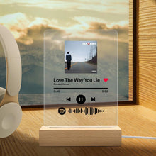 Load image into Gallery viewer, Custom Spotify Code Music Plaque Night Light (声田码扫描-夜灯)
