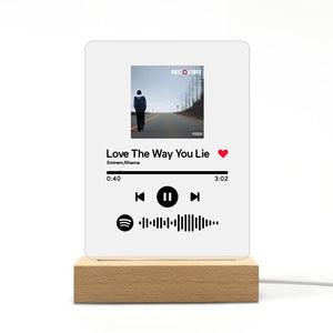 Custom Spotify Code Music Plaque Night Light (声田码扫描-夜灯)