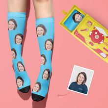Load image into Gallery viewer, Custom Face Photo Colorful Socks