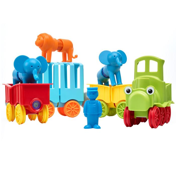 SmartMax Magnetic Construction - My First Animal Train