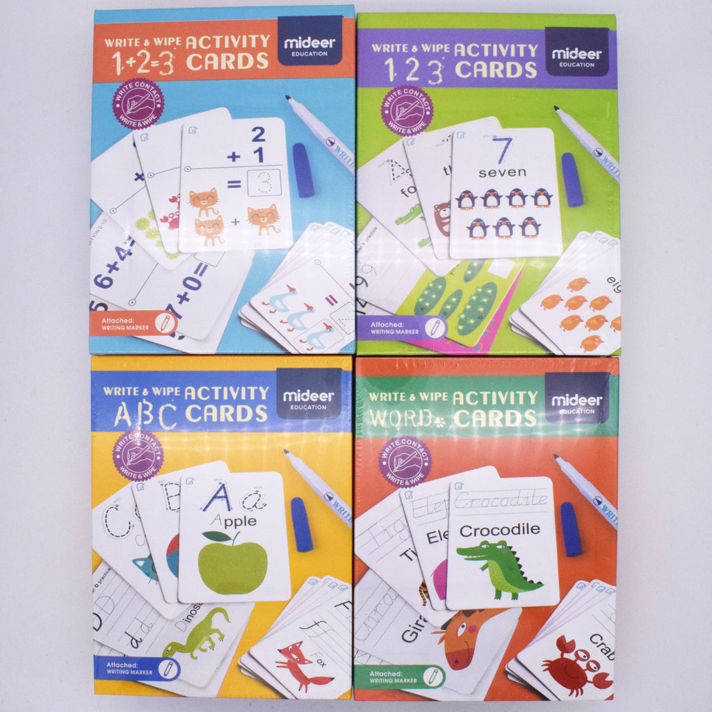 Write & Wipe Activity Cards