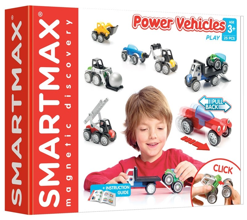SmartMax Magnetic Construction - Power Vehicle Mix