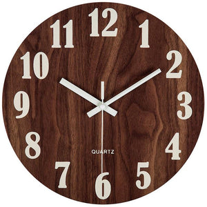 Tuscan wooden wall clock