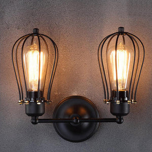 Industrial Double Head Wall Sconce