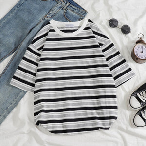 T-shirts Women Korean Retro Students Loose Fashion Leisure All-match Womens Clothing Summer Simple Short Sleeve High Quality New