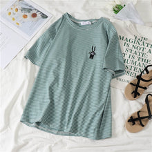 Load image into Gallery viewer, T-shirts Women Korean Retro Students Loose Fashion Leisure All-match Womens Clothing Summer Simple Short Sleeve High Quality New