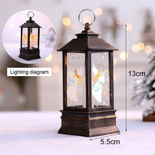 Load image into Gallery viewer, Decorative Led Candle Light Christmas Tree Decoration Rustic Candle Lantern Fawn Snowman Santa Angel Ornaments Pendant Lamp