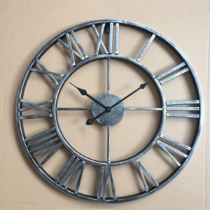 40cm Handmade 3D retro rustic decorative luxury art big gear wooden vintage large wall clock on the wall for gift
