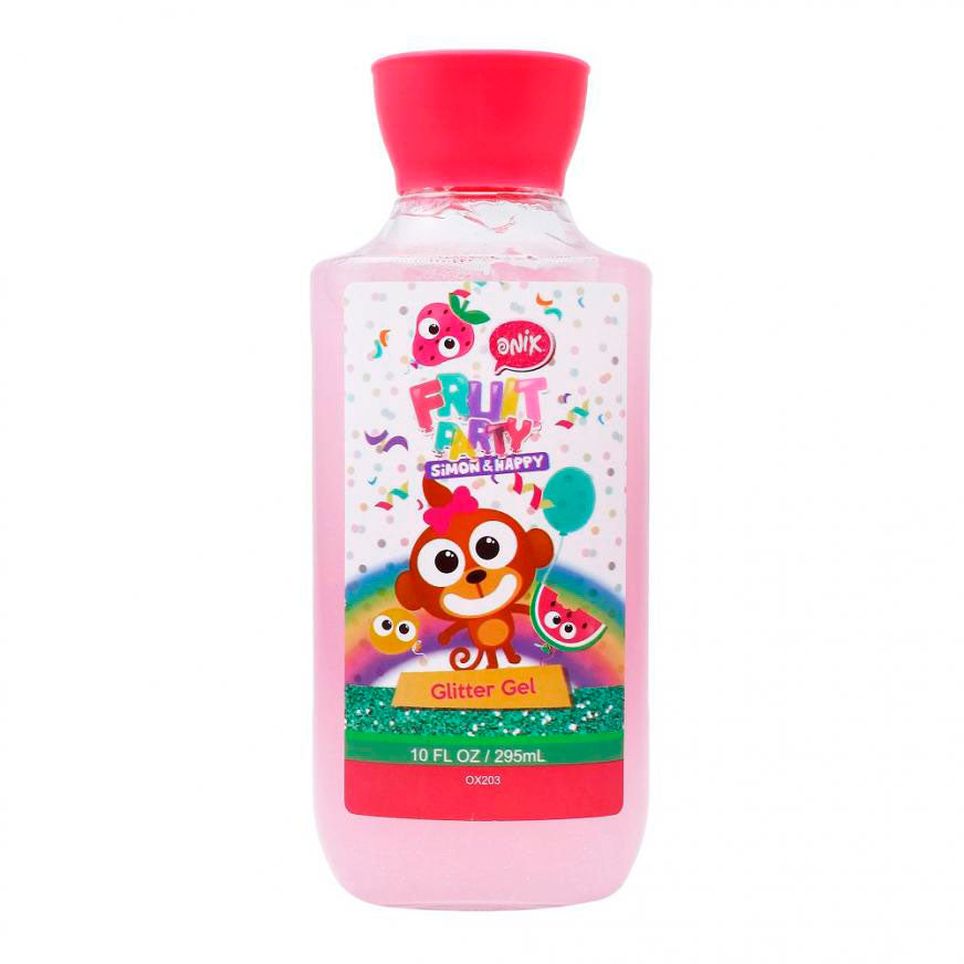GEL PARA CABELLO CON GLITTER FRUIT PARTY