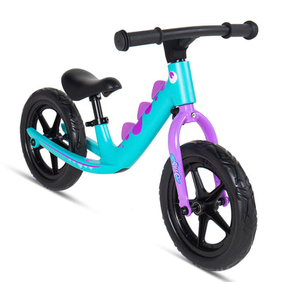 Royalbaby Dinosaur Magnesium No Pedal Walking Balance Bike 12 Inch, Teal