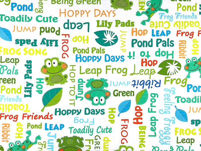 Toadily Cute Frog Fabric - ANMISC-34