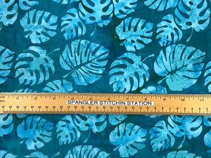Ruler on fabric to show sizing.