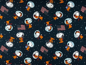 Cotton Snoopy Space Toss fabric.