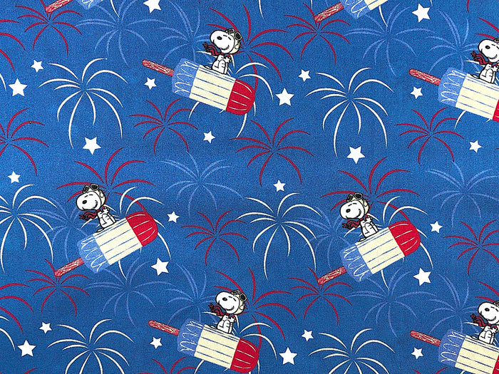 Snoopy Patriotic Popsicle Fabric - CC-42