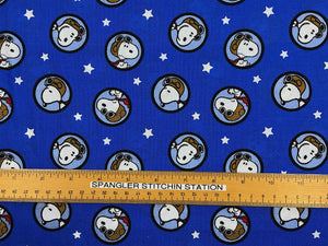 Ruler on Snoopy Red Baron Toss Fabric.