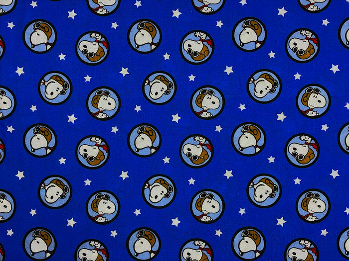 Snoopy Red Baron Toss Fabric - CC-50