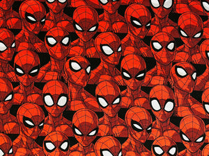 Cotton Fabric covered with Spider Man.