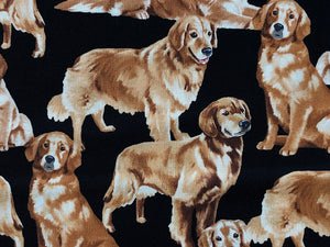 Close up of Golden Retriever Dog Fabric