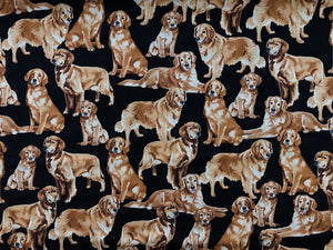 Golden Retriever Dog Fabric