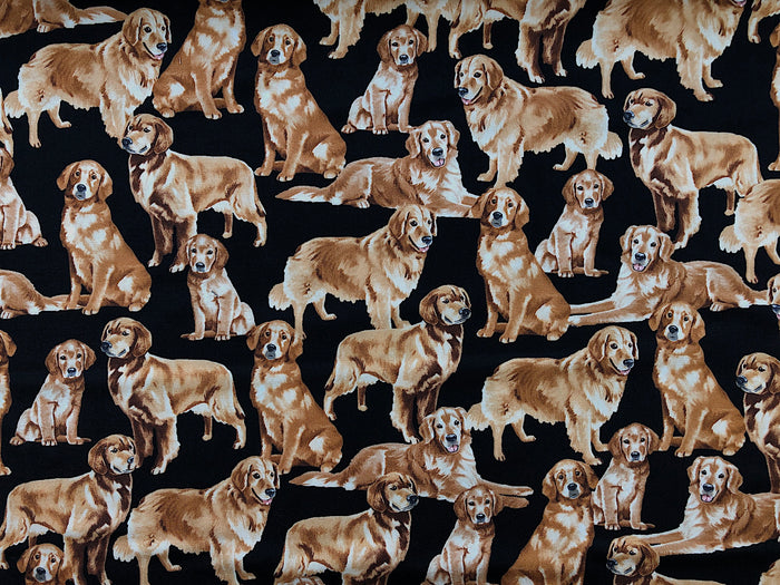 Golden Retriever Dog Fabric DOG-31