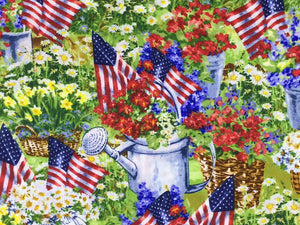 Patriotic Garden Fabric - PAT-26