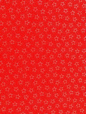 Red cotton fabric covered with stars.