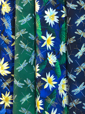 Picture of other fabrics from the Moonlight Serenade collection.