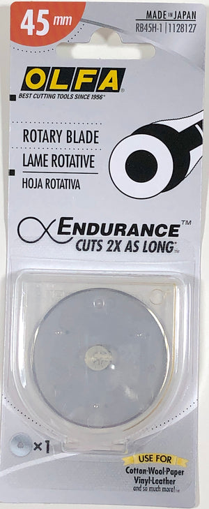 Olfa endurance replacement rotary blade 45mm.