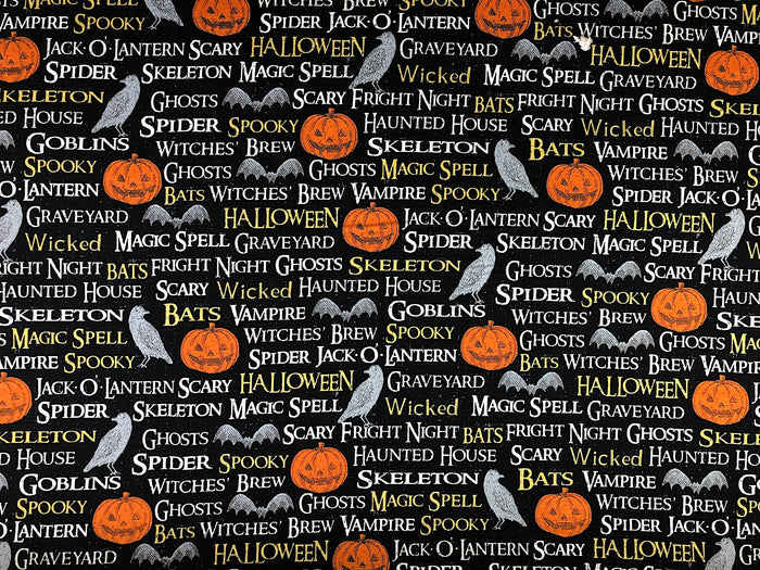 Pumpkin Halloween Fabric - FALL-17