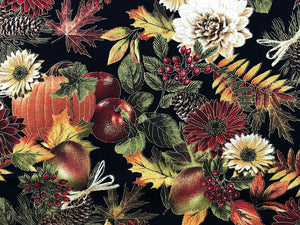 Close up of A Fall Harvest Pumpkin Fabric