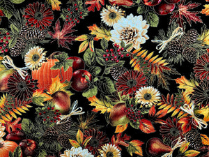 Fall Harvest Pumpkin Fabric