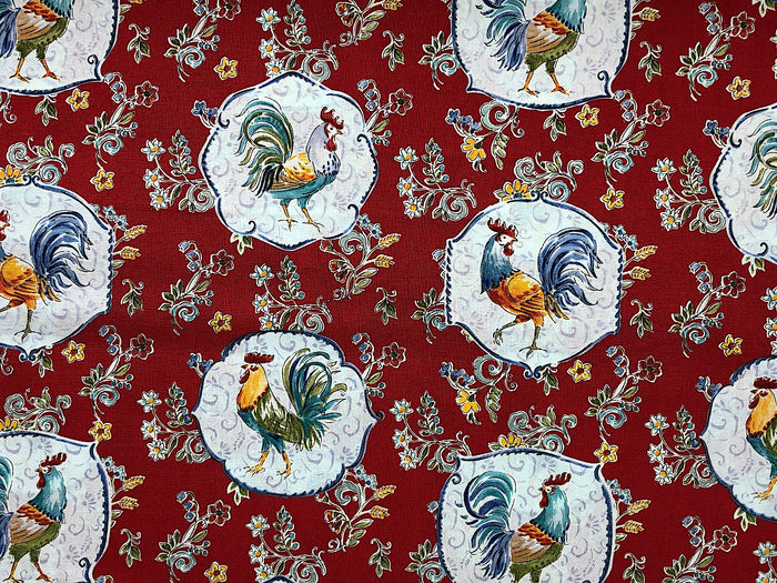 Rooster Fabric - FARM-20