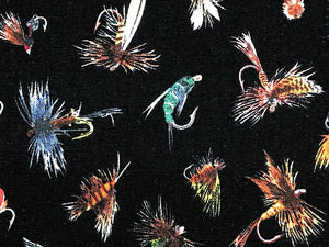 Close up of fishing lures.