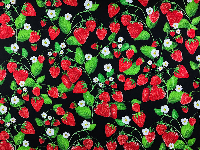 Strawberry Fabric - FRUIT-16