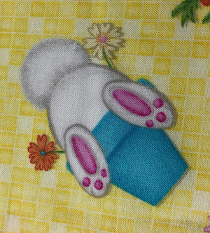 Close up of Easter Bunny Hop to It Fabric