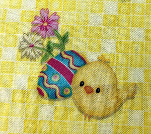 Close up of  Hop to It Easter Chick
