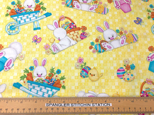 Ruler on Hop to It Easter Bunny Fabric