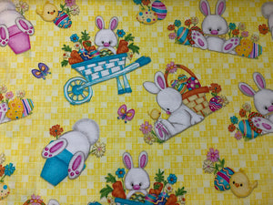Hop to It Easter Bunny Fabric