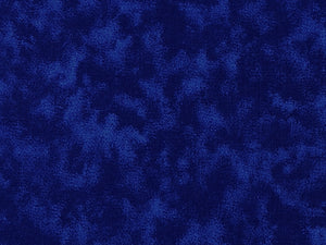 Cotton blender fabric in shades of blue.