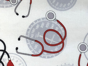 Close up of stethoscope.