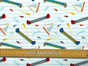 Ruler on Lets go Glamping canoe fabric