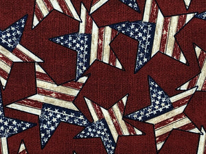 Close up of patriotic stars.