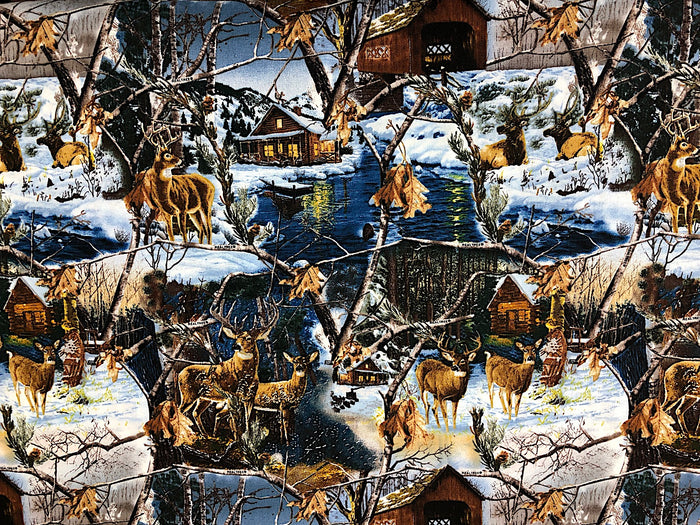 Real Tree Deer Fabric - ANMISC-08