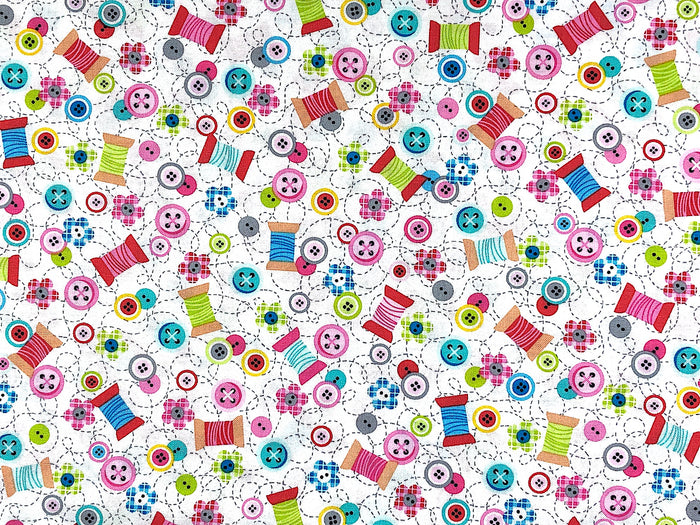 Sew Kind Sewing Themed Fabric - SEW-21