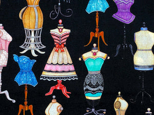 Close up of some of the dress forms.