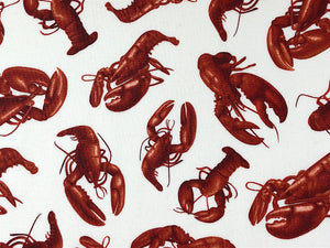 Close up of lobsters.