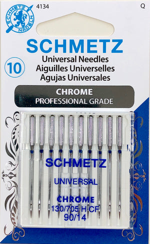 Schmetz 10 pack of 90/14 Universal Sewing Machine Needles.
