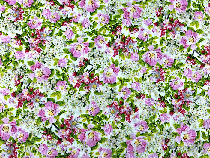 Dogwood Flower Fabric - FL-77