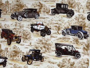 Close up of vintage cars.