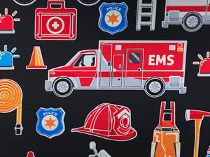 Close up of EMS truck